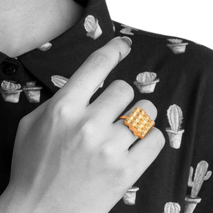 Lego Steps by Studio Kassa, Art Jewellery, Contemporary Ring