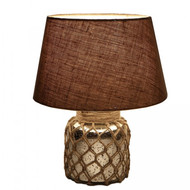 Gold Lamp with Jute Decorative Table Lamp By The Yellow Door