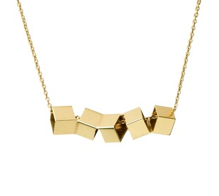 Twisted Cubes by Studio Kassa, Art Jewellery, Contemporary Pendant