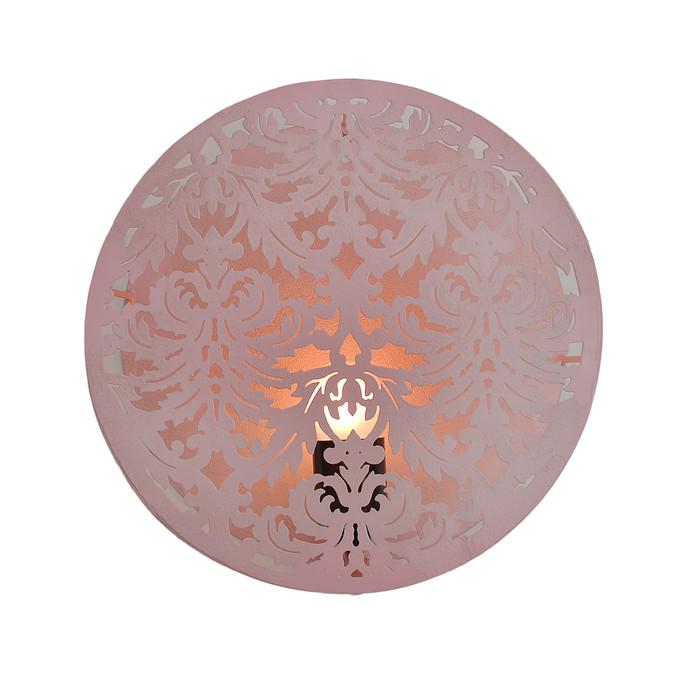 Circular Wall Light: Pink Wall Decor By The Yellow Door
