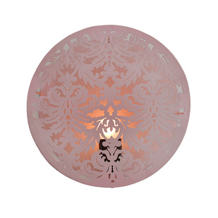 Circular Wall Light: Pink Wall Decor By The Yellow Door