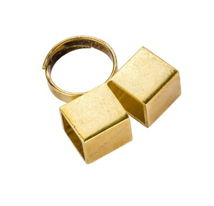 Double Cube Ring by Studio Kassa, Art Jewellery, Contemporary Ring
