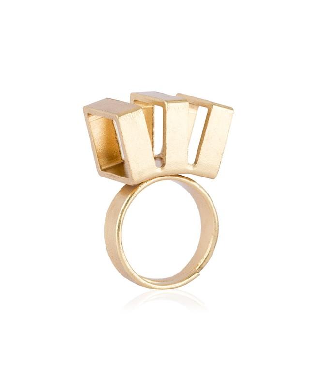 Triple Slash by Studio Kassa, Art Jewellery, Contemporary Ring