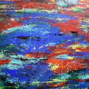 Water by Shreya Shailee, Abstract Painting, Acrylic on Board, Blue color