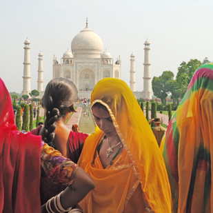 My Taj by Subhajit Dutta, Image Photography, Digital Print on Canvas, Brown color