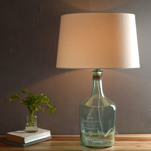 Alvin Large Aqua Table Lamp Table Lamp By Fabuliv