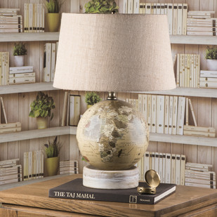 Globe Table Lamp WH Table Lamp By Fabuliv