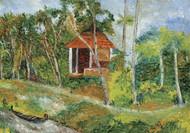 Landscape Kumarakom by Shabnam Mehra, Impressionism Painting, Oil on Canvas, Green color