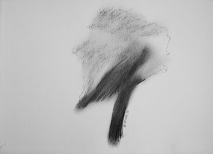 Drawing 2 by Shalaka Deshmukh, Abstract Drawing, Charcoal on Paper, Gray color