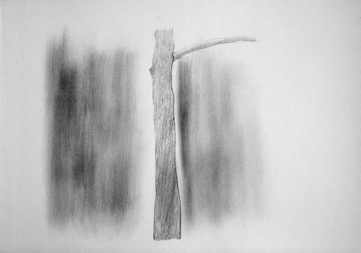 Drawing 3 by Shalaka Deshmukh, Abstract Drawing, Pencil on Paper, Gray color