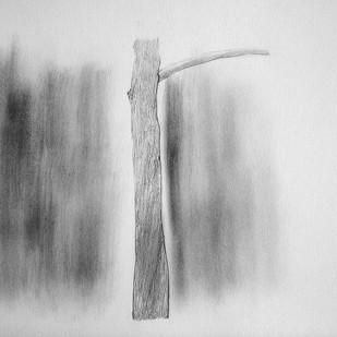 Drawing 3 by Shalaka Deshmukh, Abstract Drawing, Pencil on Paper, Gray color