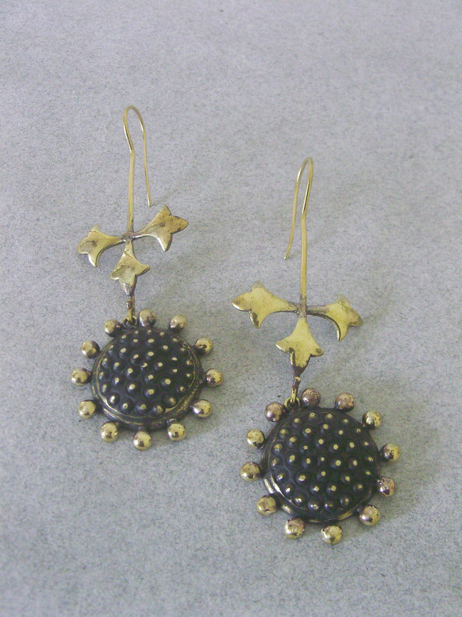 Surya by Chicory Chai, Art Jewellery, Contemporary, Traditional Earring