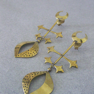 Asi by Chicory Chai, Art Jewellery, Traditional Earring