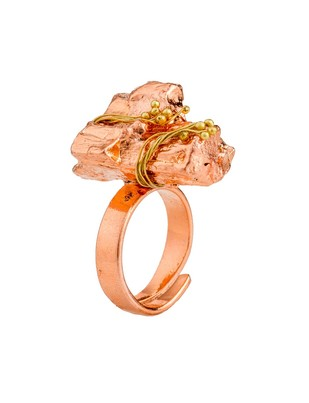 Nugget 1-Copper by Studio Kassa, Art Jewellery, Contemporary Ring