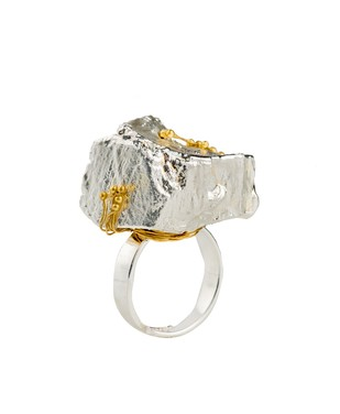 Nugget 2-Silver Ring By Studio Kassa