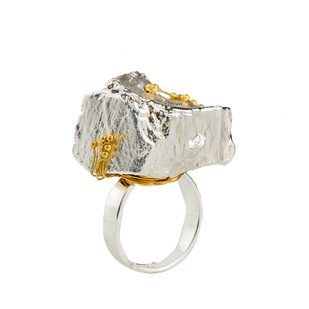 Nugget 2-Silver by Studio Kassa, Art Jewellery, Contemporary Ring