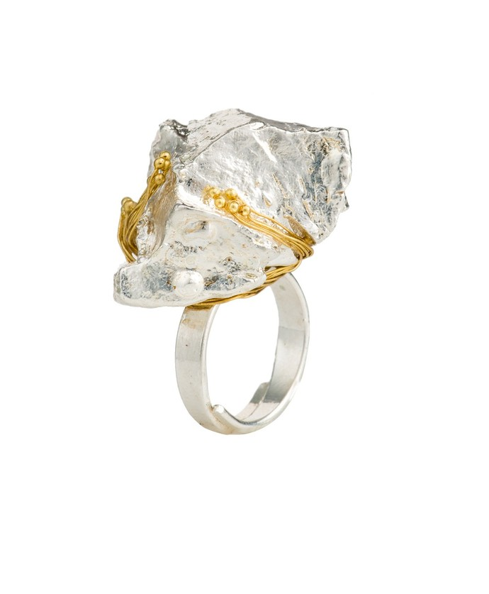 Nugget 3-Silver by Studio Kassa, Art Jewellery, Contemporary Ring
