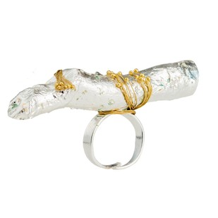 Nugget Bark-Silver by Studio Kassa, Art Jewellery, Contemporary Ring