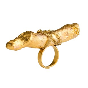Nugget Bark-Gold by Studio Kassa, Art Jewellery, Contemporary Ring