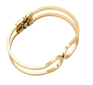 Charm-Gold by Studio Kassa, Art Jewellery, Contemporary Bracelet
