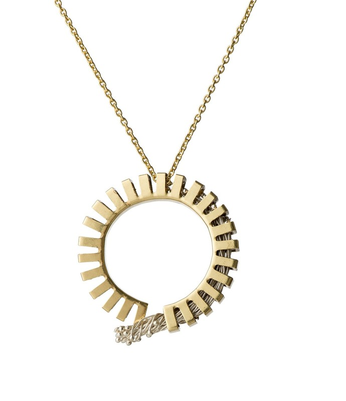 Flora Loop 2-Silver by Studio Kassa, Art Jewellery, Contemporary Pendant