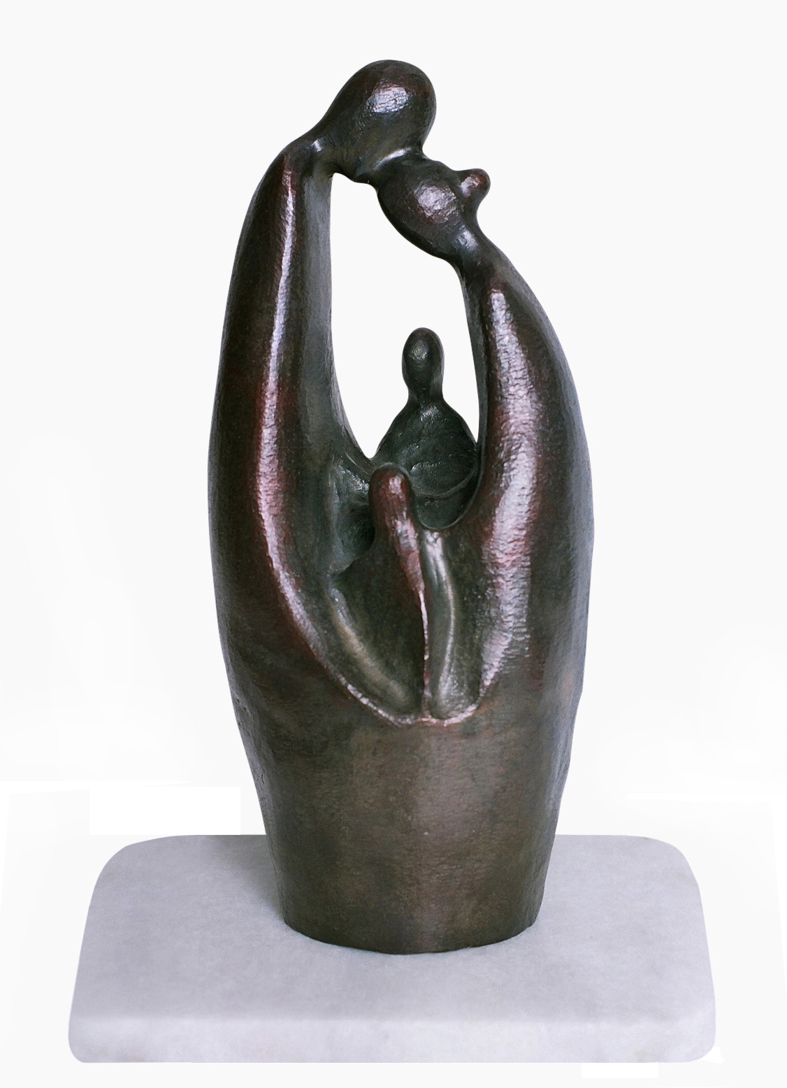 Togetherness by Manjari Goenka, Art Deco Sculpture | 3D, Bronze, Gray color