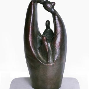 Togetherness by Manjari Goenka, Art Deco Sculpture | 3D, Bronze, Gray color