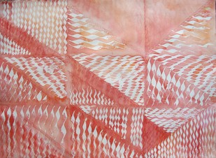 White Consciousness by Aiyana Gunjan, Abstract Painting, Watercolor on Paper, Pink color