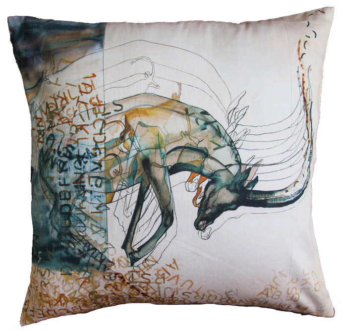 Wild Dreams by Shruti Nelson Cushion Cover By indian-colours