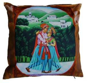 Ishq1 by Rajendra Kapse Cushion Cover By indian-colours