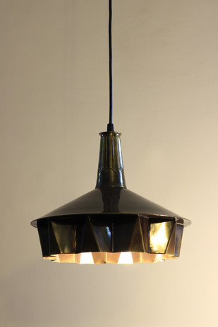 Pin Tuck Lamp 01 : Brass Antique Finish Ceiling Lamp By Sahil & Sarthak