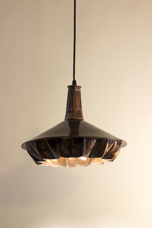 Pin Tuck 03 : Dark Copper Antique Finish Ceiling Lamp By Sahil & Sarthak