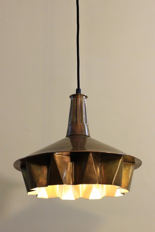 Pin Tuck Lamp 01 : Light Copper Finish Ceiling Lamp By Sahil & Sarthak