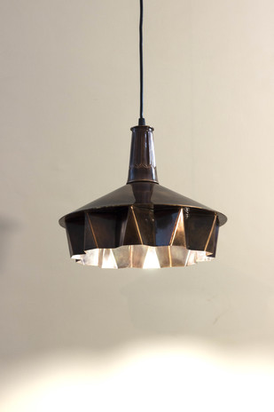 Pin Tuck 01 : Dark Copper Antique Finish Ceiling Lamp By Sahil & Sarthak