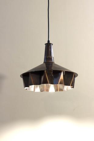 Pin Tuck 01 : Dark Copper Antique Finish Ceiling Lamp By Sahil & Sarthak