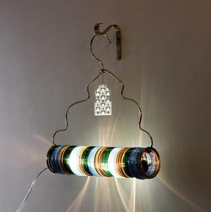 Jaipur Choori Lamp : Bamboo Green Wall Decor By Sahil & Sarthak