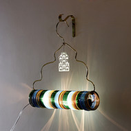 Jaipur Choori Lamp : Bamboo Green Wall Decor By Sahil & Sarthak