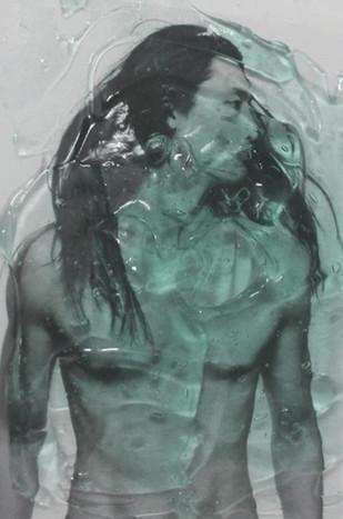 Agoraphobic in No-Man's-Land by Mustafa Zaman, Digital Digital Art, Digital Print on Archival Paper, Green color