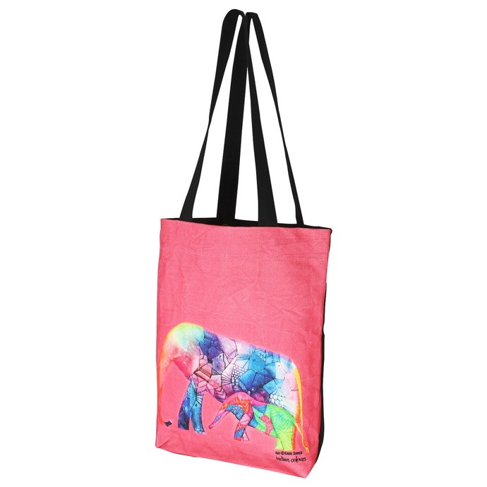 Elephant series Babu Xavier Tote bag Bags By indian-colours