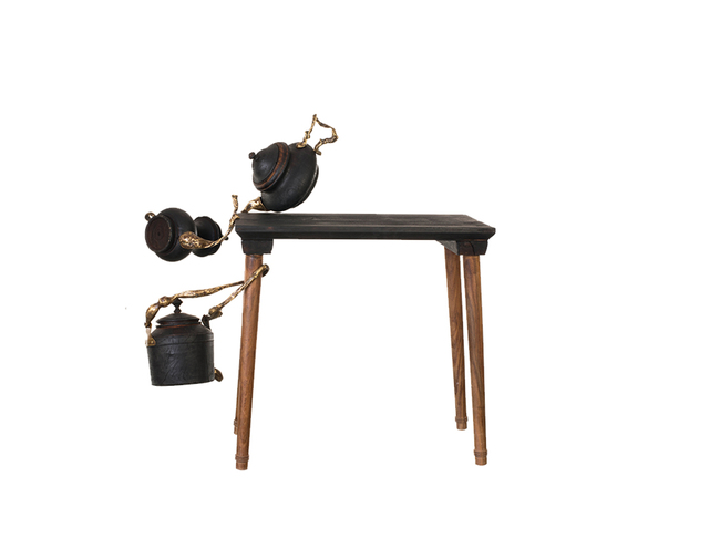 KETTLE TABLE THE FOURTH Artifact By Arpan Patel for Studio Kassa