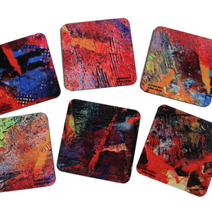 Brinda Miller Coasters Coaster Set By indian-colours