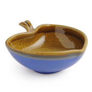 Leaf Bowl - Indigo and Brown Accessories By Studio Asao