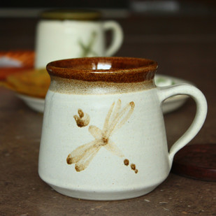 Hand Made - Barni Mug - Ivory and Brown Serveware By Studio Asao