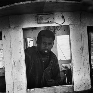 Alang: Pilot by Anirban Dutta Gupta, Image Photograph, Digital Print on Enhanced Matt, Gray color