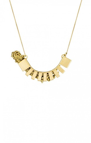 Flora Hemicycle 2-Golden by Studio Kassa, Art Jewellery, Contemporary Pendant