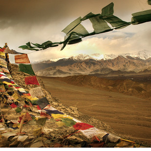 Ladakh: In the Land of Silence by Anirban Dutta Gupta, Image Photograph, Digital Print on Enhanced Matt, Brown color