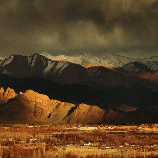 Ladakh: The edge of the world by Anirban Dutta Gupta, Image Photograph, Digital Print on Enhanced Matt, Brown color