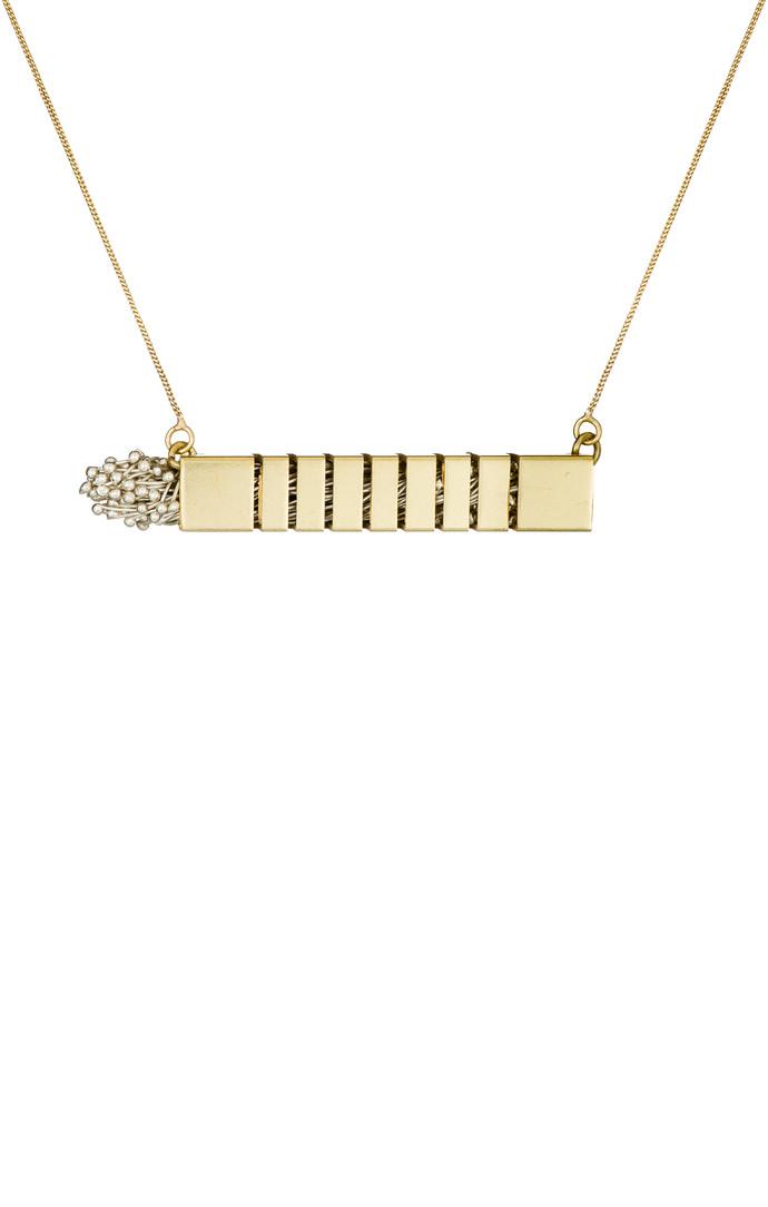 Flora Bar-silver by Studio Kassa, Art Jewellery, Contemporary Pendant