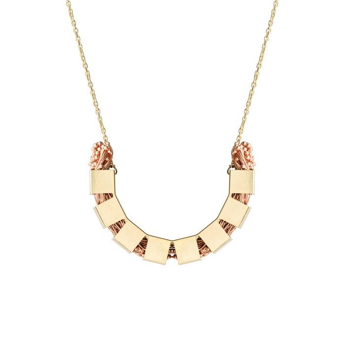 flora arc 2 copper by Studio Kassa, Art Jewellery, Contemporary Pendant