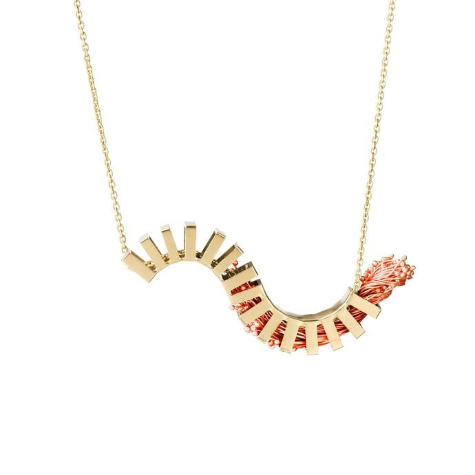 lil wave copper by Studio Kassa, Art Jewellery, Contemporary Pendant